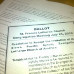 Copy of ballot at St. Francis