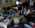 Attendees play trivial pursuit
