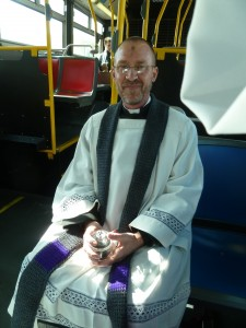 Pastor Steve on the 66 Quintara bus