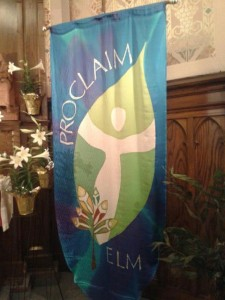 ELM banner at Proclaim retreat