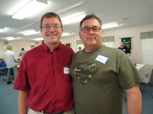 Rev. David Eck (L) and Gary Mitchell