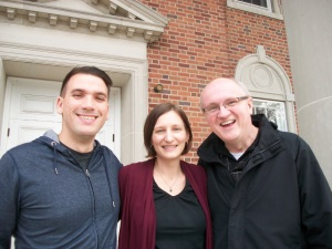 Fritz Fowler, Jen Rude, Robin Fero outside the Chapel at Gettysburg Fritz and Robin are Proclaim members at Gettysburg Seminary