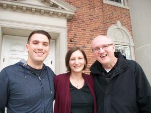 Fritz Fowler, Jen Rude, Robin Fero outside the Chapel at Gettysburg Fritz and Robin are Proclaim members at Gettysburg Seminary