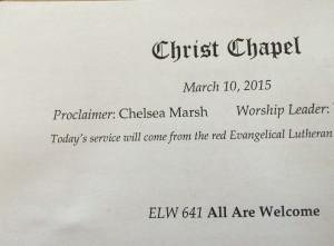 chelsea preaching