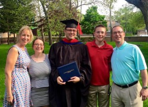 The Graft Family with Kyle at his graduation ceremony.