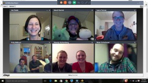 Screenshot of a recent Seminarian Meet Up sponsored by the Proclaim Seminarian Team