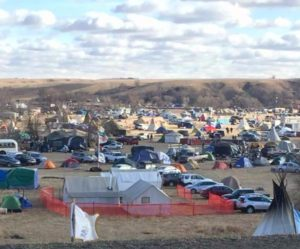 HoChunk Nation campsite within the Oceti Wakosin camp. Standing Rock. Photo credit: Marlene Helgemo